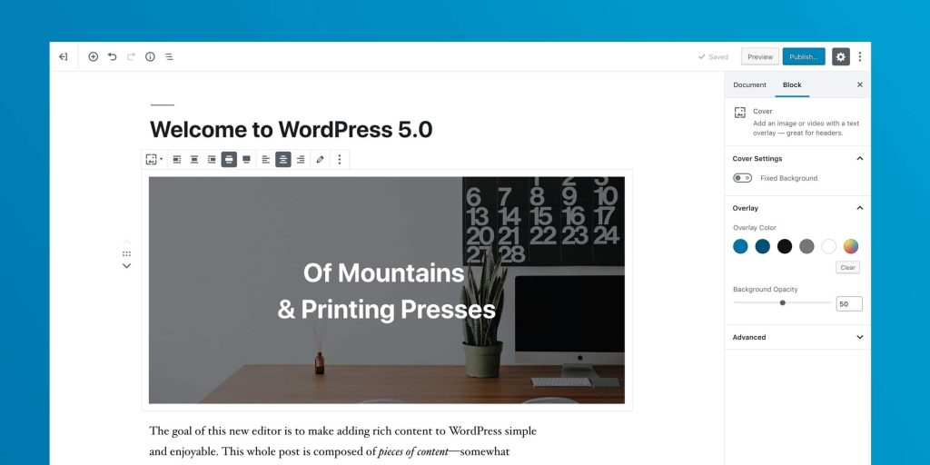 Edytor WordPress 5